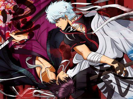 Обои Sakata Gintoki / Саката Гинтоки из аниме Gin Tama / Гинтама
