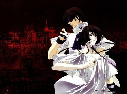Обои Kazuki / Казуки и Juubei / Джубей из аниме Getbackers / Агенство по возрату утраченного