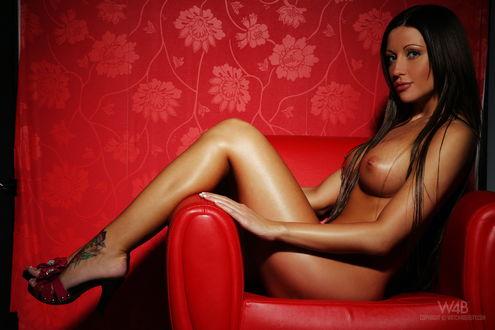 Голые модели на кресле фотообои фото 50-397