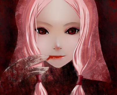 Обои Yuzuriha Inori / Инори Юдзуриха из аниме Венец Вины / Guilty Crown