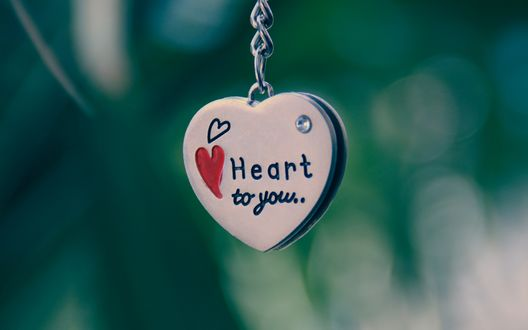Обои Кулон в форме сердца с надписью Hart for you / Сердце для тебя