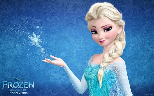 Обои Колдующая королева Эльза из диснеевского мультфильма Холодное сердце / Frozen