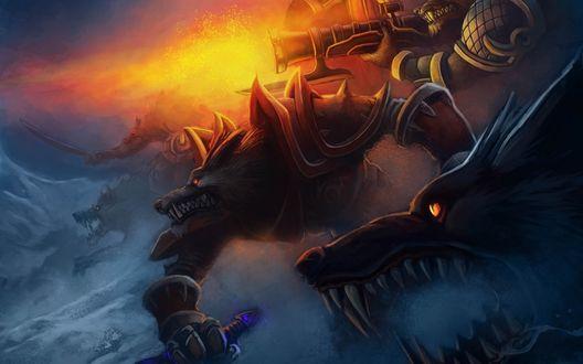 Обои Вооруженные воргены / Worgens готовятся к нападению, арт к игре World Of Warcraft