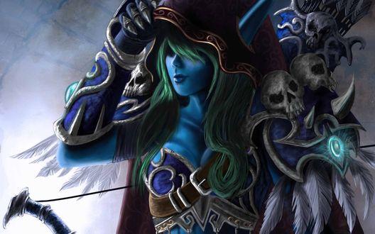Обои Сильвана Ветрокрылая / Sylvanas Windrunner, арт к игре World Of Warcraft