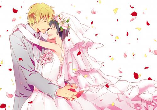 свадебные картинки аниме: