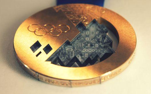 Обои Золотая медаль Сочи 2014 / Gold Medal of Sochi 2014