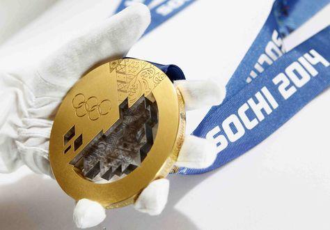 Обои Олимпийская золотая медаль (Сочи 2014 / Sochi 2014)