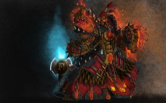 Обои Орк-шаман, арт к игре World of Warcraft