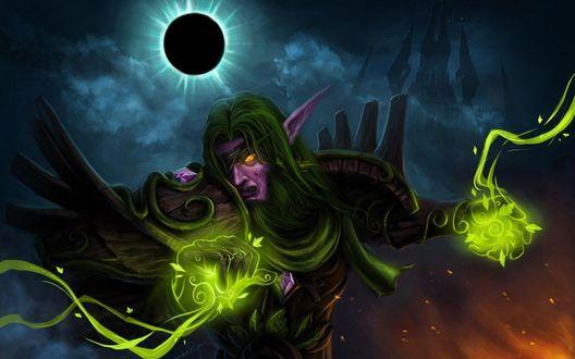 Обои Ночной эльф-друид, арт к игре World of Warcraft