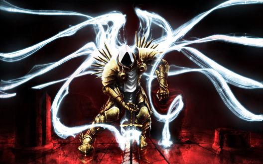 Обои Тираэль / Tyrael, арт к игре Diablo 3