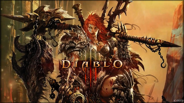 Обои Девушка-варвар / Barbarian, арт к игре Diablo 3