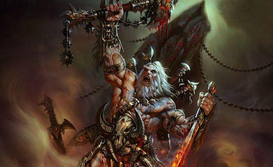 Обои Варвар / Barbarian, арт к игре Diablo 3