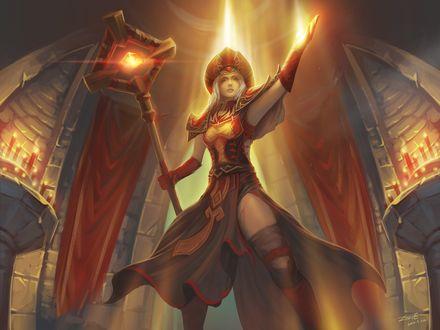 Обои Верховный Инквизитор Салли Вайтмейн, арт к игре World Of warcraft