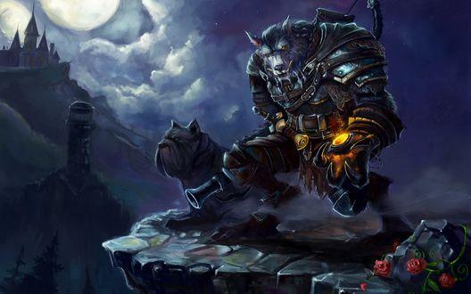 Обои Ворген-охотник / Worgen Hunter, арт к игре World Of warcraft