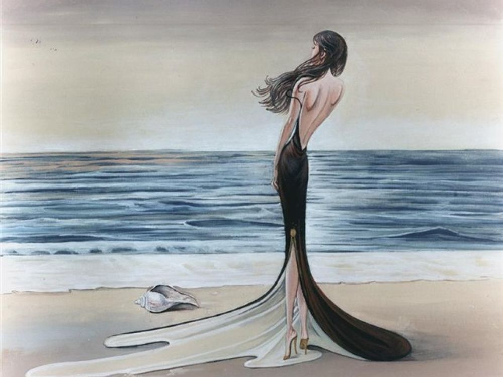 Черное море черное платье