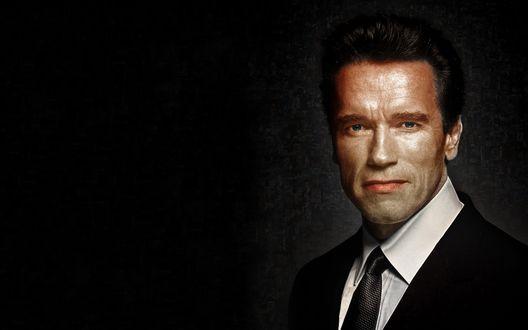 Обои Портрет американского культуриста и актера Арнольда Шварцнегерра / Arnold Shvartsnegerr