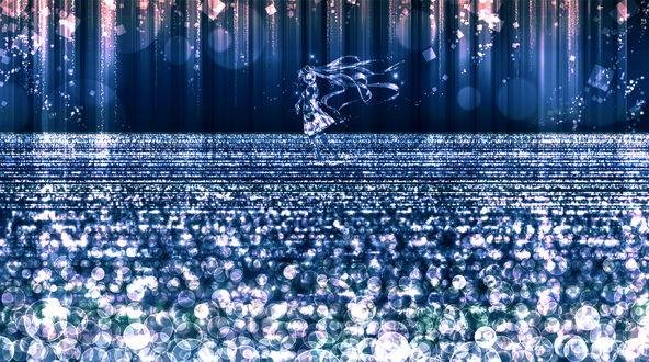 Обои Vocaloid Hatsune Miku / Вокалоид Хатсуне Мику, art by konomi