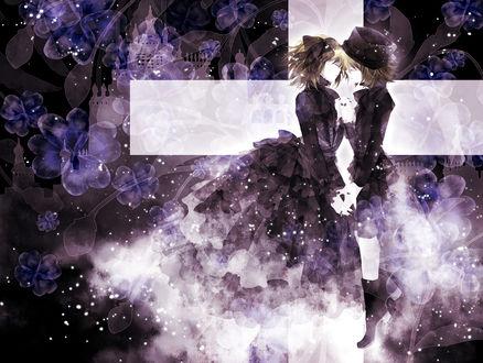 Обои Вокалоиды Рин и Лен Кагамине / Vocaloid Rin & Len Kagamine, art by hana (mew)