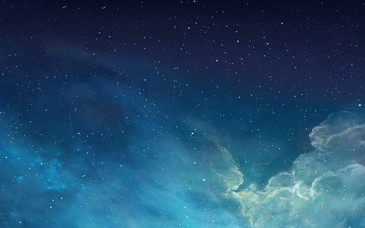 Обои Звездное небо с облаками