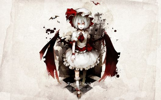 Обои Ремилия Скарлет / Remilia Scarlet из игры Touhou Project / Проект «Восток»