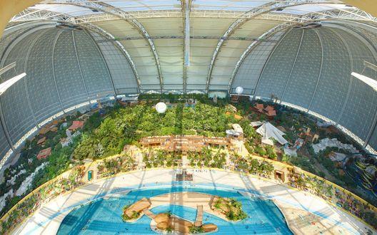 Обои Вид сверху на аквапарк в Германии / Germany