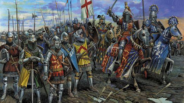 Обои Английские рыцари 100-летней войны