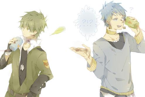 Обои Flippy / Флиппи и Lumpy / Лумпи в стиле аниме из мультсериала Happy Tree Friends / Счастливые Лесные Друзья