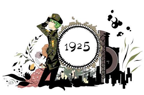 Обои Flippy / Флиппи с ножом в руке в стиле аниме из мультсериала Happy Tree Friends / Счастливые Лесные Друзья (1925)