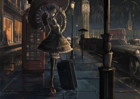 Обои Селестия Ладенберг / Celestia Ludenberg из игры и аниме Академия отчаяния / Dangan Ronpa, art by qianqian