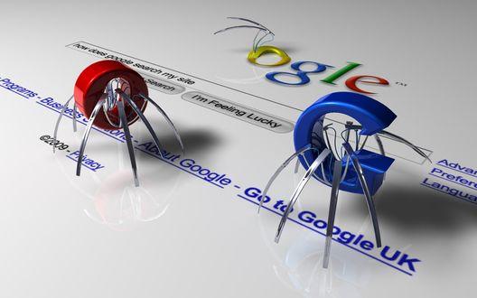 Обои Логотип Google на сером фоне