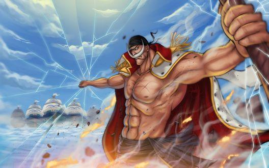 Обои Edward Newgate / Эдвард Ньюгейт из аниме One Piece / Ван Пис, Большой Куш