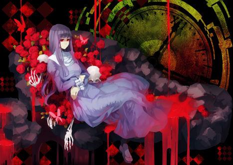 Обои Fujino Asagami / Фудзино Асагами из аниме Kara no Kyoukai / Граница пустоты:сад грешников