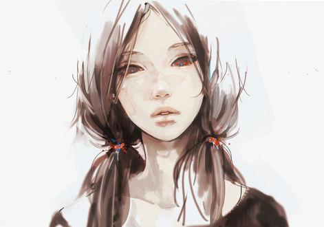 Лица девушек с хвостиками фото 670-746