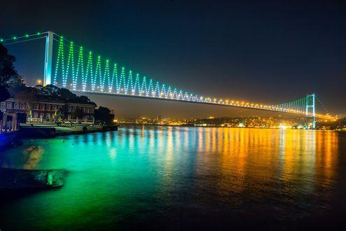 Обои Ночной красивый мост