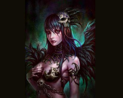 Обои Темный красивый ангел