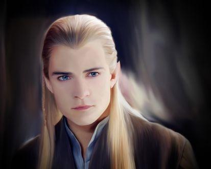 Обои Персонаж из фильма Властелин колец / Lord of the Rings Леголас / Legolas смотрит вперед