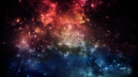 Обои Разноцветная космическая туманность