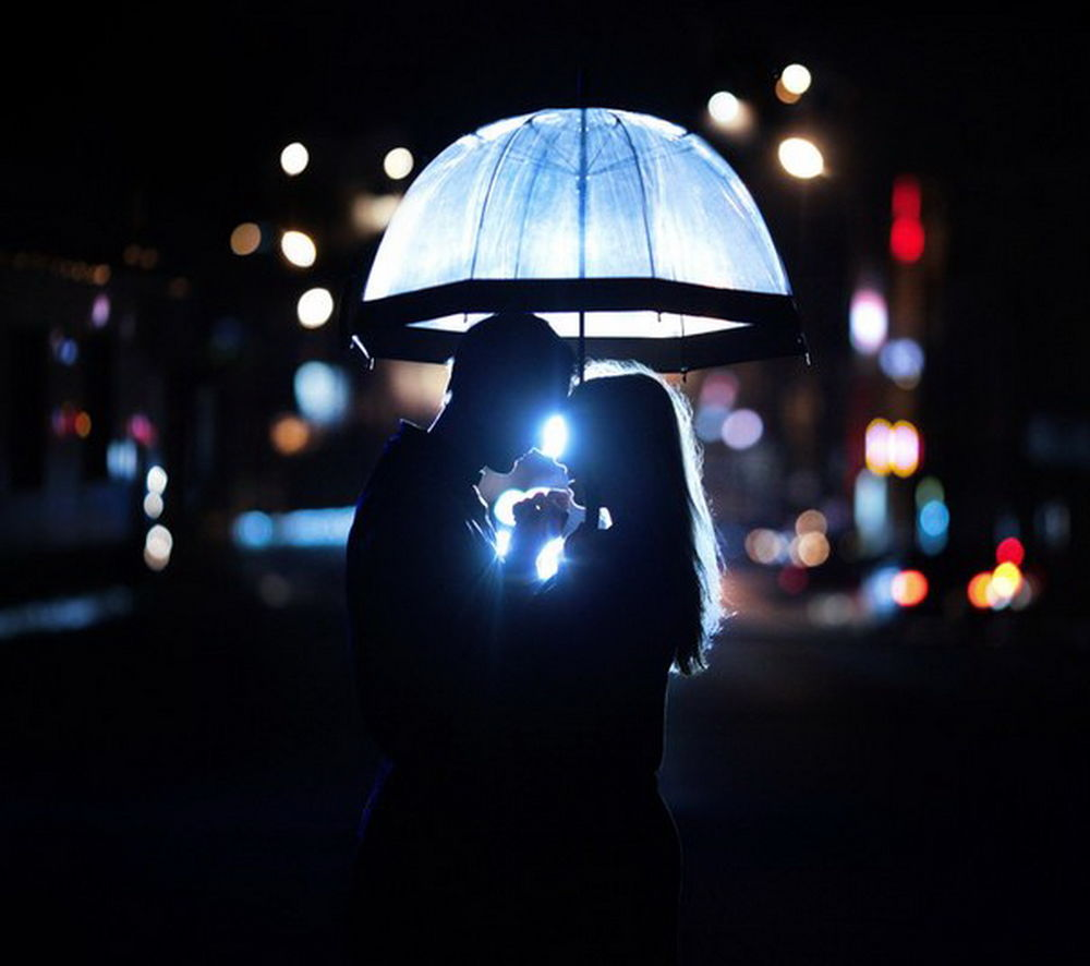 Влюбленные зима ночь картинки