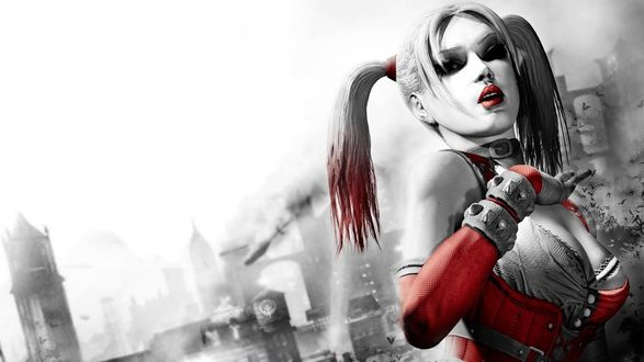 Обои Harley Quinn / Харли Квинн из игры Batman Arkham City / Бэтмен: Аркхэм-Сити