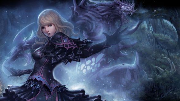 Обои Девушка маг, арт к компьютерной игре Dungeon Heroes by ChaoyuanXu