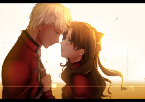 Обои Рин Тосака / Rin Tohsaka и Арчер / Archer из аниме Судьба: Ночь схватки / Fate: Stay night