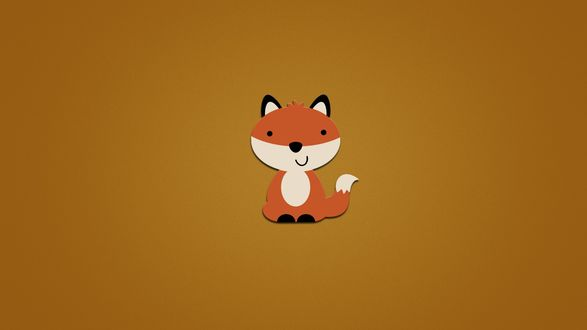 Обои Рыжая лиса сидит и улыбается