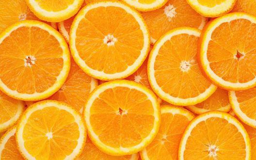Обои Много колечек апельсина