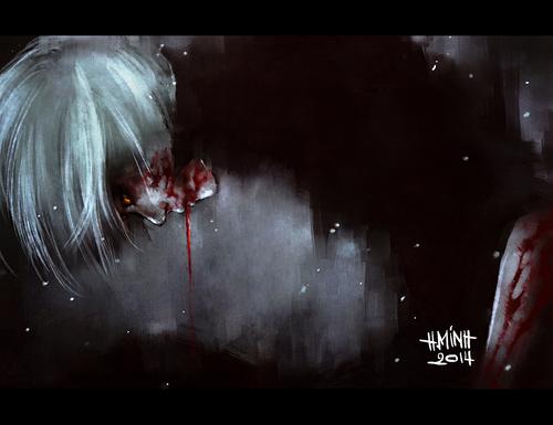 Аниме tokyo ghoul токийский гуль art by nanfe