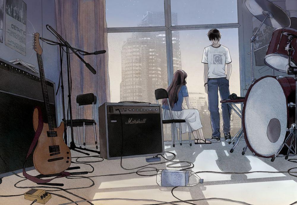 Парень и девушка в комнате фото 561-887