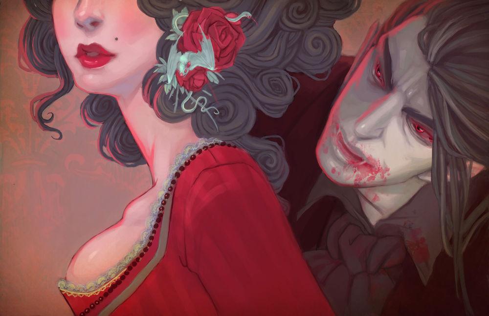 Рисунки мужчин вампиров секси