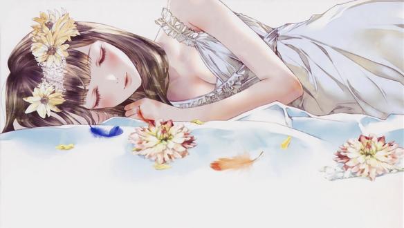 мнеОставьте сон девушка с цветами цены
