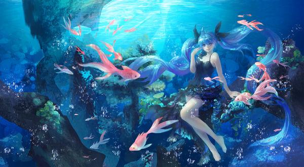 Обои Vocaloid Hatsune Miku / Вокалоид Хатсуне Мику