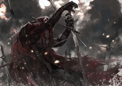 Обои Мужчина - воин с мечом