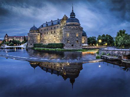 Обои Ночной городок, Швеция / Sweden